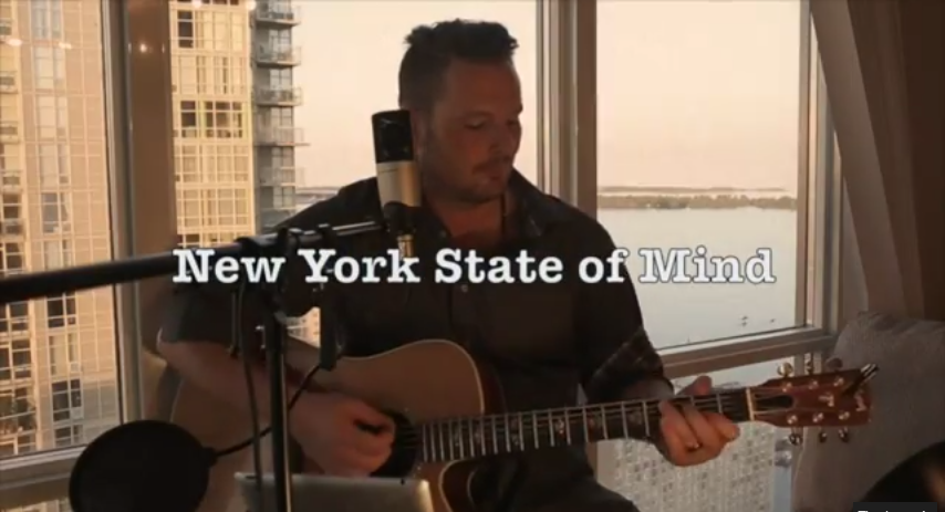new york state of mind acoustic cover Cary Shields YouTube